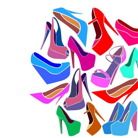 Scarpe trendy vettore moda scarpe tacco alto alla moda