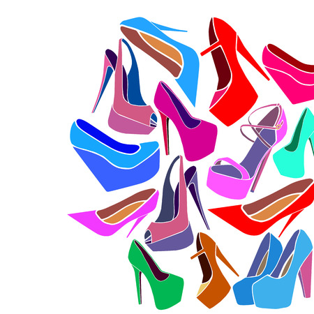 fashion vector trendy shoes heel high fashionable