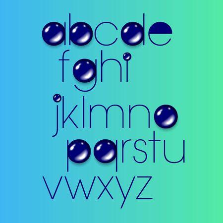 letter font alphabet vector text design sign
