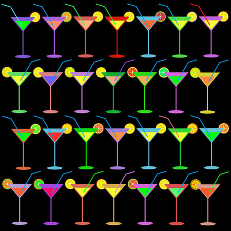 martini vector alcohol glass liquid drink cocktail
