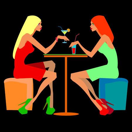 beauty beautiful hair vector alcohol friendship meeting