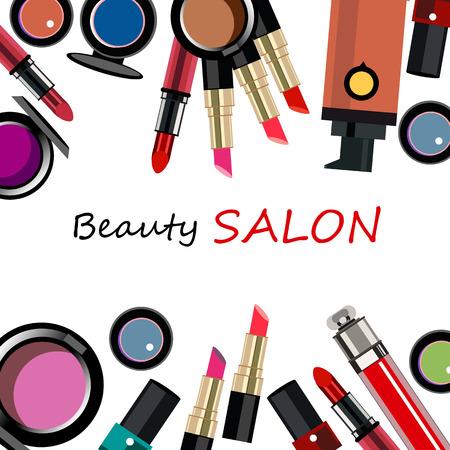 fashion design: vector fashion female makeup design glamour brush