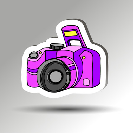 camera vector digital black lens focus photographer