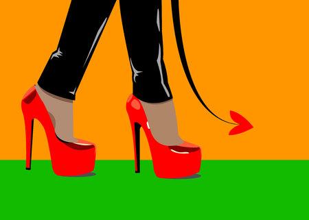 fashion design: vector fashion illustration silhouette sketch footwear design