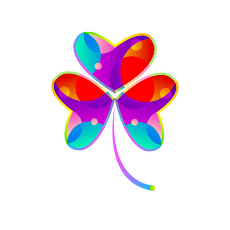 celtic background: clover leaf illustration luck irish vector nature