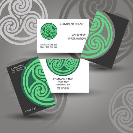 vector vector celtic sign design symbol logo element abstract knot icon business cards stickers - Business Card Stickers