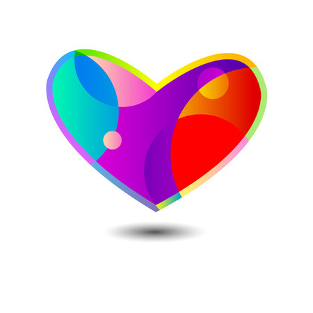 heart vector love symbol design red sign icon