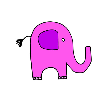 vector elephant animal illustration mammal wild cute wildlife design fun africa