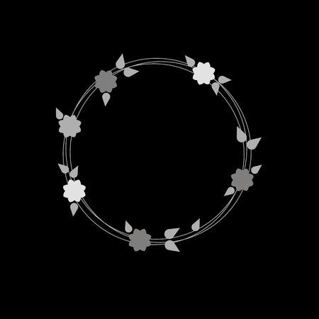 flower abstract design circle element vector sign Ilustração