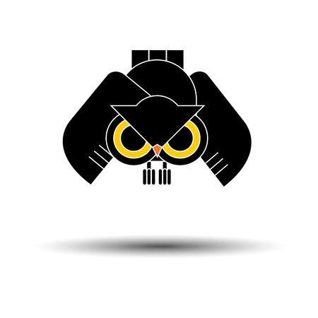 interesting: vector nature illustration bird art design graphic animal style silhouette drawing owl wings Illustration