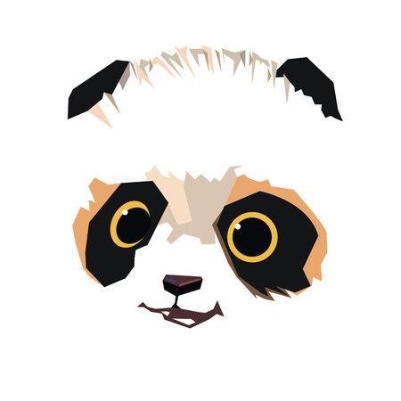 panda asian cute vector white bear nature animal cartoon illustration Illustration