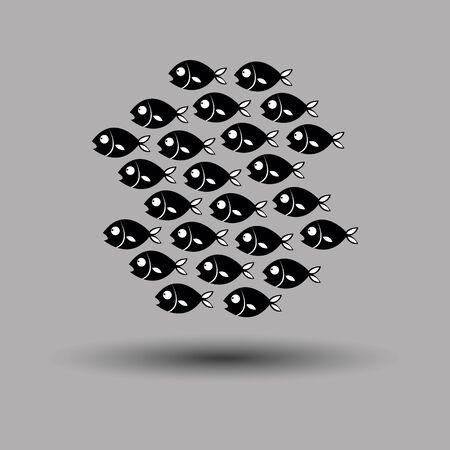 fish vector underwater sea ocean illustration marine nature animal background