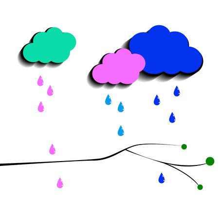 cielo de fondo vector tiempo de la lluvia la naturaleza del clima