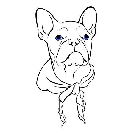 Chien vecteur race mignon animal animal bulldog Vecteurs