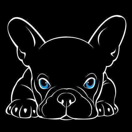 cane vettore razza simpatico animale domestico bulldog animali
