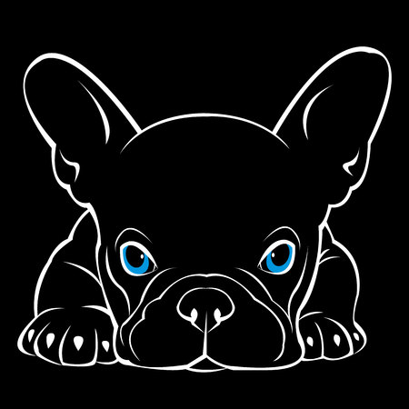 dog vector breed cute pet animal bulldog Stock Illustratie