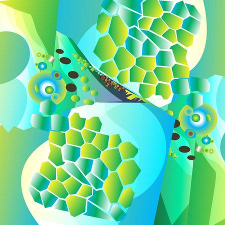vector background color circle color lines black Illustration