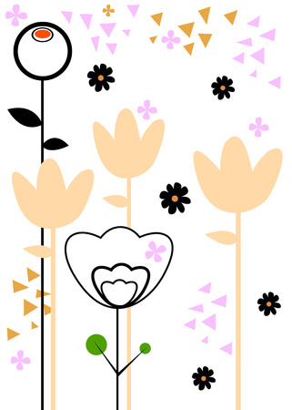 weeds: vector nature illustration art design graphic glade