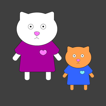 interesting: Funny cat illustration cartoon vector fun art animal.