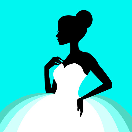 Ballerina ballet illustration dancer dance beautiful dress girl silhouette.