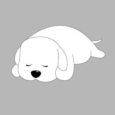 labrador: Puppy illustration pet vector breed dog animal white hound head tail cute Illustration