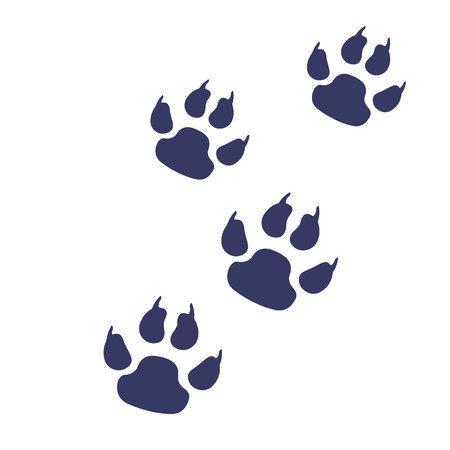 animal print paw foot shape illustration