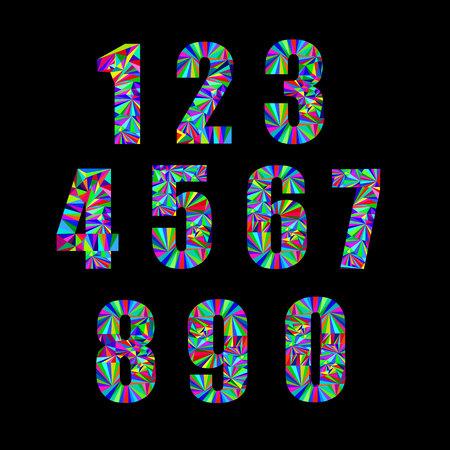 5.0: number vector design symbol numeral school sign