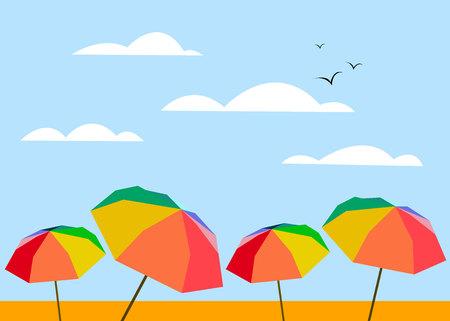 umbrella vector rain protection icon handle concept Illustration
