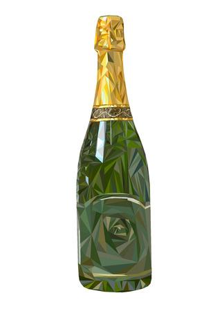 wine glass alcohol bottle drink vector illustration