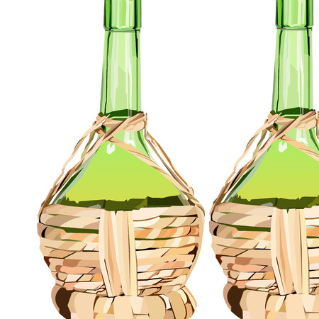 vino: wine glass alcohol bottle drink vector illustration