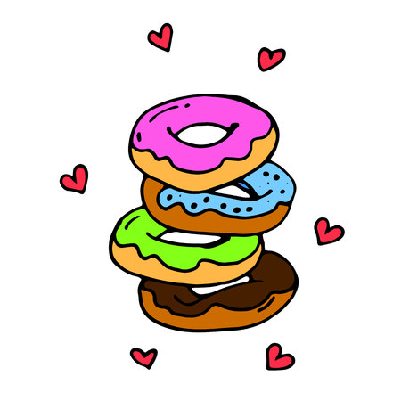 vector, dessert, sweet, snack, chocolate, delicious, donuts, donut icon, donut
