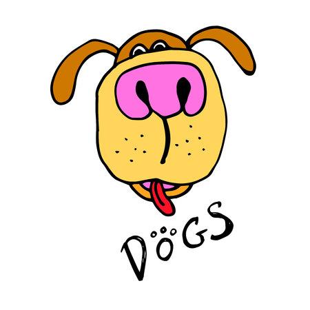 icon design dog vector emblem illustration concept