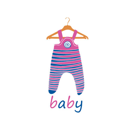 vector bright fashion baby clothes cute graphics