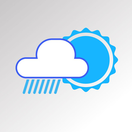 vector sky weather background climate nature rain