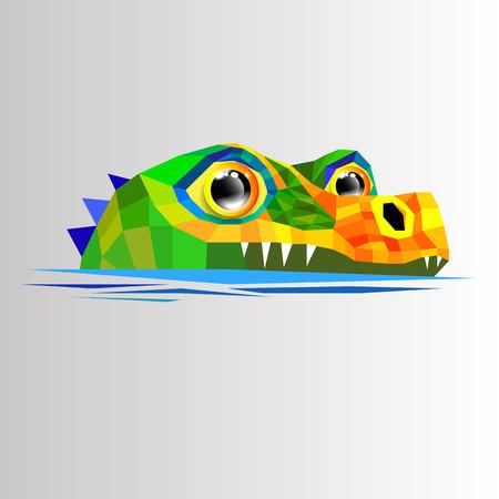 crocodile vector animal alligator green illustration predator reptile cartoon fun character