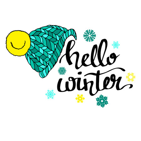 winter, text, hello, banner, greeting, background, calligraphy