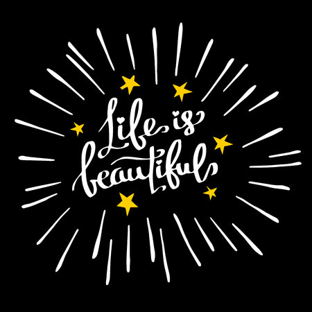 text, quote, lettering, beautiful, calligraphy, vector, ink, style, concept, typography
