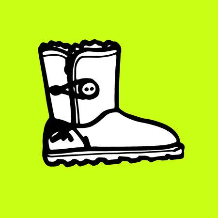 winter, fashion, ugg, vector, fur, modern, wear, boot, comfortable, elegant