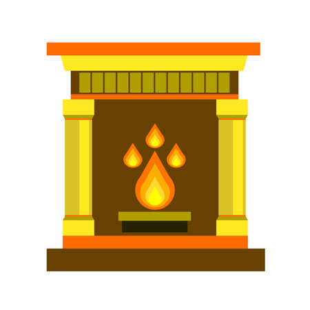 fireplace, home, vector, fire, interior, illustration, decoration object mantelpiece bright light