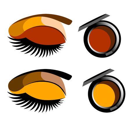 vector fashion female makeup design glamour brush care