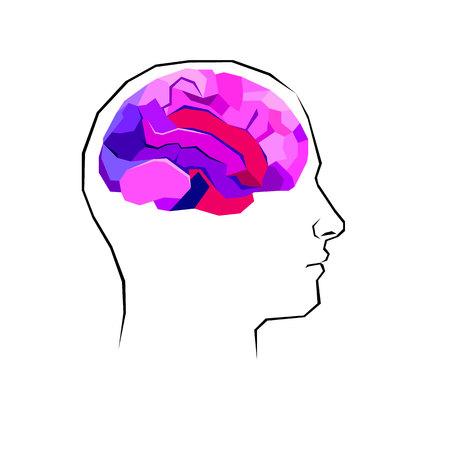 brain, vector, symbol, illustration, mind, icon, human, concept, idea