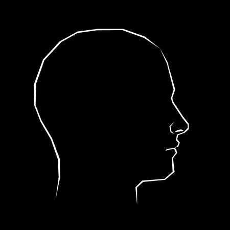 head, illustration, silhouette, profile, face, person, vector, human, concept Illustration