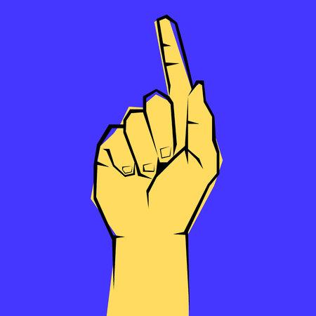hand, vector, human, illustration, finger, symbol, icon, concept, design 向量圖像