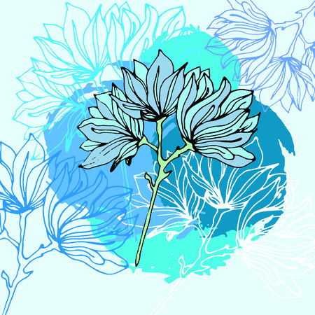 flower vector floral background design illustration decorative