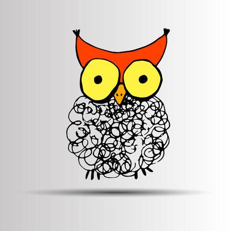 Owl vector nature illustration bird art design graphic animal style Illustration