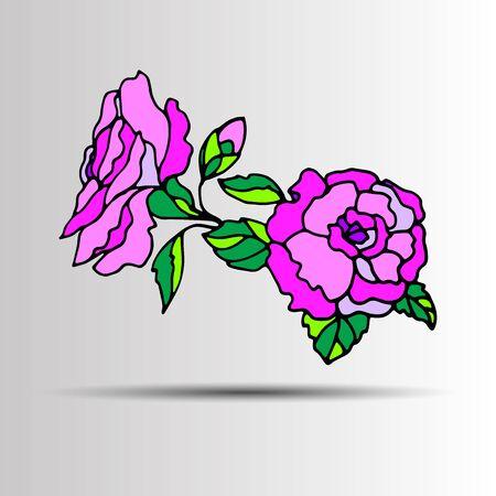 linearity: floral flower rose spring summer background botanical garden