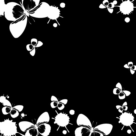 Vector butterfly insect art white color fly graphic Illustration