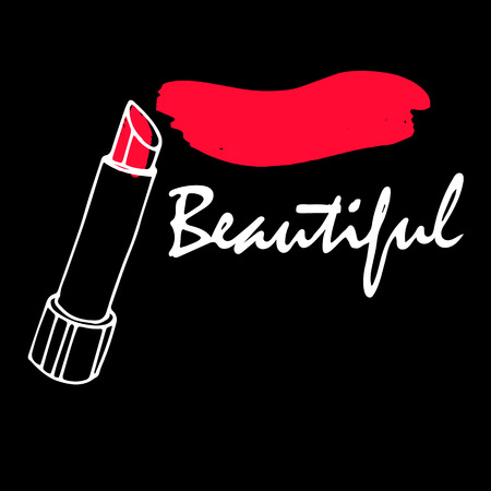 lipstick red fashion beauty vector makeup glamour beautiful luxury