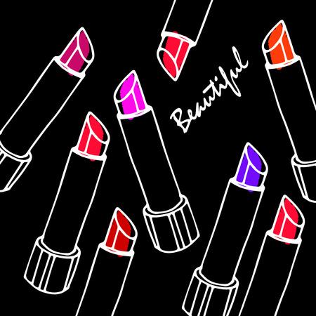 lipstick red fashion beauty vector makeup glamour beautiful luxury