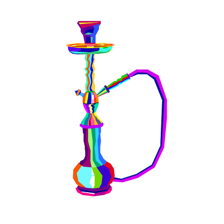 Hookah labels. Set of hookah vector silhouettes. Illustration